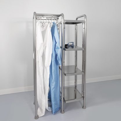 Cleanroom shelf with hangers